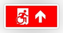Accessible Exit Sign Project Wheelchair Wheelie Running Man Symbol Means of Egress Icon Disability Emergency Evacuation Fire Safety Sticker 26