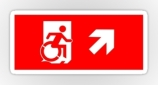 Accessible Exit Sign Project Wheelchair Wheelie Running Man Symbol Means of Egress Icon Disability Emergency Evacuation Fire Safety Sticker 29