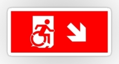 Accessible Exit Sign Project Wheelchair Wheelie Running Man Symbol Means of Egress Icon Disability Emergency Evacuation Fire Safety Sticker 30