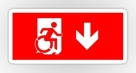 Accessible Exit Sign Project Wheelchair Wheelie Running Man Symbol Means of Egress Icon Disability Emergency Evacuation Fire Safety Sticker 31