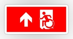Accessible Exit Sign Project Wheelchair Wheelie Running Man Symbol Means of Egress Icon Disability Emergency Evacuation Fire Safety Sticker 32