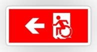 Accessible Exit Sign Project Wheelchair Wheelie Running Man Symbol Means of Egress Icon Disability Emergency Evacuation Fire Safety Sticker 33
