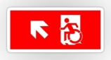 Accessible Exit Sign Project Wheelchair Wheelie Running Man Symbol Means of Egress Icon Disability Emergency Evacuation Fire Safety Sticker 34
