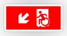 Accessible Exit Sign Project Wheelchair Wheelie Running Man Symbol Means of Egress Icon Disability Emergency Evacuation Fire Safety Sticker 38