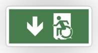Accessible Exit Sign Project Wheelchair Wheelie Running Man Symbol Means of Egress Icon Disability Emergency Evacuation Fire Safety Sticker 4