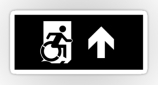 Accessible Exit Sign Project Wheelchair Wheelie Running Man Symbol Means of Egress Icon Disability Emergency Evacuation Fire Safety Sticker 42