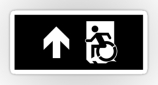 Accessible Exit Sign Project Wheelchair Wheelie Running Man Symbol Means of Egress Icon Disability Emergency Evacuation Fire Safety Sticker 49