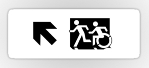 Accessible Exit Sign Project Wheelchair Wheelie Running Man Symbol Means of Egress Icon Disability Emergency Evacuation Fire Safety Sticker 51