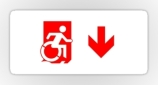 Accessible Exit Sign Project Wheelchair Wheelie Running Man Symbol Means of Egress Icon Disability Emergency Evacuation Fire Safety Sticker 61