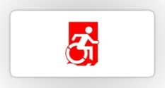 Accessible Exit Sign Project Wheelchair Wheelie Running Man Symbol Means of Egress Icon Disability Emergency Evacuation Fire Safety Sticker 63