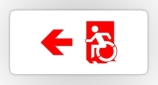 Accessible Exit Sign Project Wheelchair Wheelie Running Man Symbol Means of Egress Icon Disability Emergency Evacuation Fire Safety Sticker 67