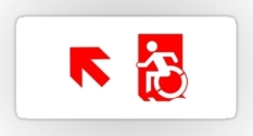 Accessible Exit Sign Project Wheelchair Wheelie Running Man Symbol Means of Egress Icon Disability Emergency Evacuation Fire Safety Sticker 69