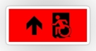 Accessible Exit Sign Project Wheelchair Wheelie Running Man Symbol Means of Egress Icon Disability Emergency Evacuation Fire Safety Sticker 7