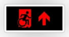 Accessible Exit Sign Project Wheelchair Wheelie Running Man Symbol Means of Egress Icon Disability Emergency Evacuation Fire Safety Sticker 73