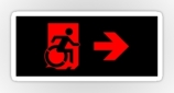 Accessible Exit Sign Project Wheelchair Wheelie Running Man Symbol Means of Egress Icon Disability Emergency Evacuation Fire Safety Sticker 74