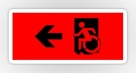 Accessible Exit Sign Project Wheelchair Wheelie Running Man Symbol Means of Egress Icon Disability Emergency Evacuation Fire Safety Sticker 8