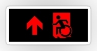 Accessible Exit Sign Project Wheelchair Wheelie Running Man Symbol Means of Egress Icon Disability Emergency Evacuation Fire Safety Sticker 81