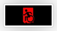 Accessible Exit Sign Project Wheelchair Wheelie Running Man Symbol Means of Egress Icon Disability Emergency Evacuation Fire Safety Sticker 86