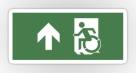 Accessible Exit Sign Project Wheelchair Wheelie Running Man Symbol Means of Egress Icon Disability Emergency Evacuation Fire Safety Sticker 87