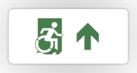 Accessible Exit Sign Project Wheelchair Wheelie Running Man Symbol Means of Egress Icon Disability Emergency Evacuation Fire Safety Sticker 89