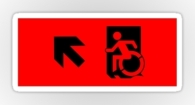 Accessible Exit Sign Project Wheelchair Wheelie Running Man Symbol Means of Egress Icon Disability Emergency Evacuation Fire Safety Sticker 9