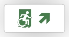 Accessible Exit Sign Project Wheelchair Wheelie Running Man Symbol Means of Egress Icon Disability Emergency Evacuation Fire Safety Sticker 91