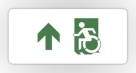 Accessible Exit Sign Project Wheelchair Wheelie Running Man Symbol Means of Egress Icon Disability Emergency Evacuation Fire Safety Sticker 95