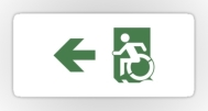 Accessible Exit Sign Project Wheelchair Wheelie Running Man Symbol Means of Egress Icon Disability Emergency Evacuation Fire Safety Sticker 96