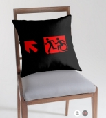 Accessible Exit Sign Project Wheelchair Wheelie Running Man Symbol Means of Egress Icon Disability Emergency Evacuation Fire Safety Throw Pillow Cushion 11