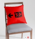 Accessible Exit Sign Project Wheelchair Wheelie Running Man Symbol Means of Egress Icon Disability Emergency Evacuation Fire Safety Throw Pillow Cushion 127