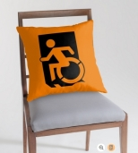 Accessible Exit Sign Project Wheelchair Wheelie Running Man Symbol Means of Egress Icon Disability Emergency Evacuation Fire Safety Throw Pillow Cushion 141