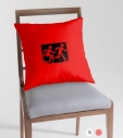 Accessible Exit Sign Project Wheelchair Wheelie Running Man Symbol Means of Egress Icon Disability Emergency Evacuation Fire Safety Throw Pillow Cushion 149