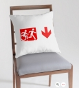 Accessible Exit Sign Project Wheelchair Wheelie Running Man Symbol Means of Egress Icon Disability Emergency Evacuation Fire Safety Throw Pillow Cushion 150