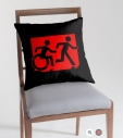 Accessible Exit Sign Project Wheelchair Wheelie Running Man Symbol Means of Egress Icon Disability Emergency Evacuation Fire Safety Throw Pillow Cushion 16