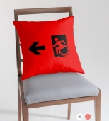 Accessible Exit Sign Project Wheelchair Wheelie Running Man Symbol Means of Egress Icon Disability Emergency Evacuation Fire Safety Throw Pillow Cushion 33