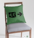 Accessible Exit Sign Project Wheelchair Wheelie Running Man Symbol Means of Egress Icon Disability Emergency Evacuation Fire Safety Throw Pillow Cushion 34