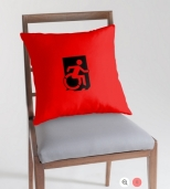 Accessible Exit Sign Project Wheelchair Wheelie Running Man Symbol Means of Egress Icon Disability Emergency Evacuation Fire Safety Throw Pillow Cushion 35