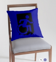 Accessible Exit Sign Project Wheelchair Wheelie Running Man Symbol Means of Egress Icon Disability Emergency Evacuation Fire Safety Throw Pillow Cushion 38