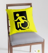 Accessible Exit Sign Project Wheelchair Wheelie Running Man Symbol Means of Egress Icon Disability Emergency Evacuation Fire Safety Throw Pillow Cushion 4