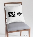 Accessible Exit Sign Project Wheelchair Wheelie Running Man Symbol Means of Egress Icon Disability Emergency Evacuation Fire Safety Throw Pillow Cushion 50