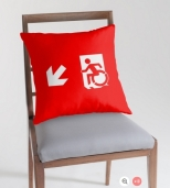 Accessible Exit Sign Project Wheelchair Wheelie Running Man Symbol Means of Egress Icon Disability Emergency Evacuation Fire Safety Throw Pillow Cushion 5