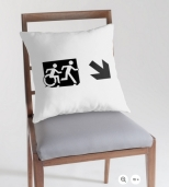 Accessible Exit Sign Project Wheelchair Wheelie Running Man Symbol Means of Egress Icon Disability Emergency Evacuation Fire Safety Throw Pillow Cushion 52
