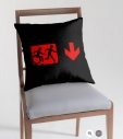 Accessible Exit Sign Project Wheelchair Wheelie Running Man Symbol Means of Egress Icon Disability Emergency Evacuation Fire Safety Throw Pillow Cushion 7