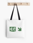Accessible Exit Sign Project Wheelchair Wheelie Running Man Symbol Means of Egress Icon Disability Emergency Evacuation Fire Safety Tote Bag 101