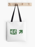 Accessible Exit Sign Project Wheelchair Wheelie Running Man Symbol Means of Egress Icon Disability Emergency Evacuation Fire Safety Tote Bag 102