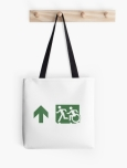 Accessible Exit Sign Project Wheelchair Wheelie Running Man Symbol Means of Egress Icon Disability Emergency Evacuation Fire Safety Tote Bag 109