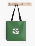 Accessible Exit Sign Project Wheelchair Wheelie Running Man Symbol Means of Egress Icon Disability Emergency Evacuation Fire Safety Tote Bag 11