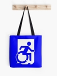 Accessible Exit Sign Project Wheelchair Wheelie Running Man Symbol Means of Egress Icon Disability Emergency Evacuation Fire Safety Tote Bag 126