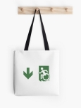 Accessible Exit Sign Project Wheelchair Wheelie Running Man Symbol Means of Egress Icon Disability Emergency Evacuation Fire Safety Tote Bag 129