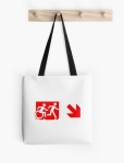Accessible Exit Sign Project Wheelchair Wheelie Running Man Symbol Means of Egress Icon Disability Emergency Evacuation Fire Safety Tote Bag 138